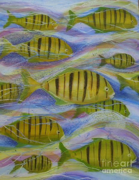 Painting - Ocean's Tide by Anna Skaradzinska