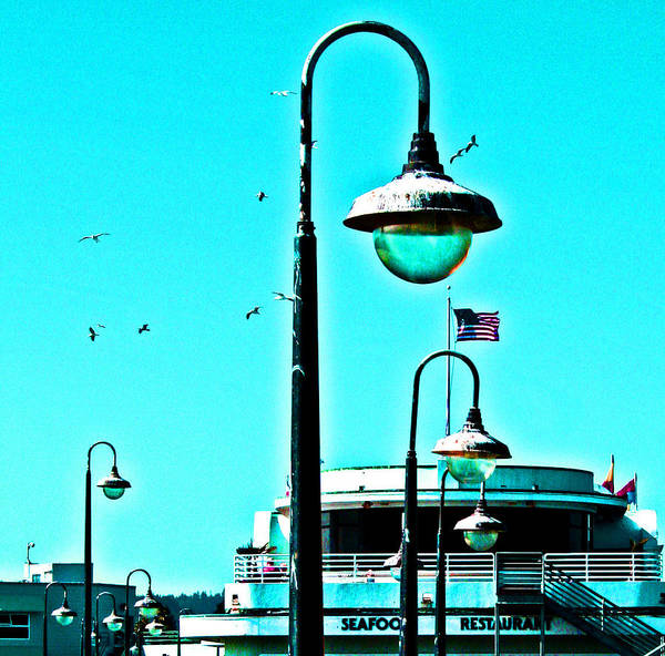 Photograph - Oceanside Boardwalk Lamps by Joseph Coulombe