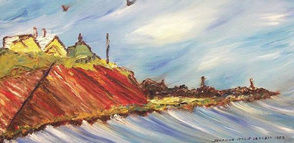 Leclair Painting - Oceanside Home  by Suzanne  Marie Leclair