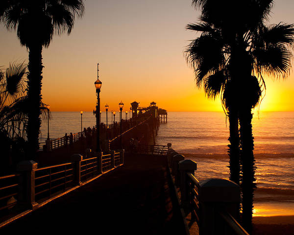 Oceanside Pier Photograph - Oceanside Pier At Sunset by Alex Snay