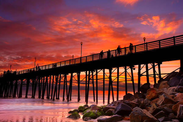 Wall Art - Photograph - Oceanside Sunset 12 by Larry Marshall