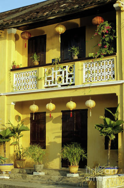 Hoi An Photograph - Ochre Building 01 by Rick Piper Photography