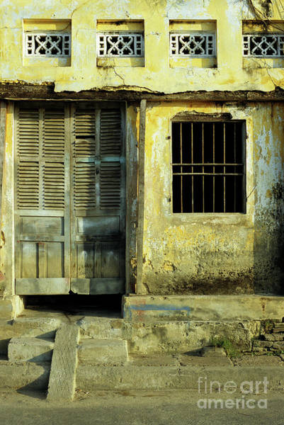 Hoi An Photograph - Ochre Wall 03 by Rick Piper Photography