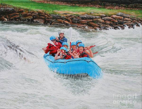 Painting - Ocoee River Rafting by Mike Ivey
