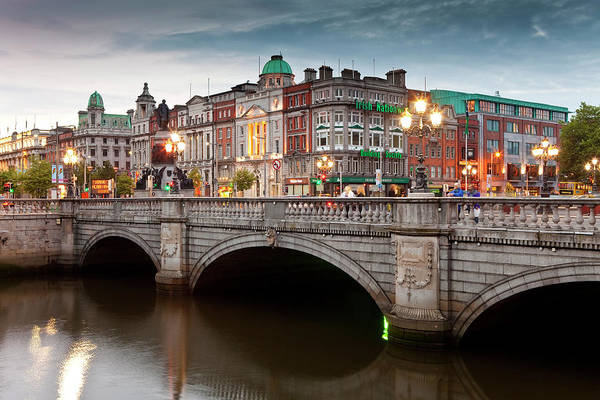 County Dublin Photograph - Oconnell Bridge Over Liffey River And by Richard I'anson