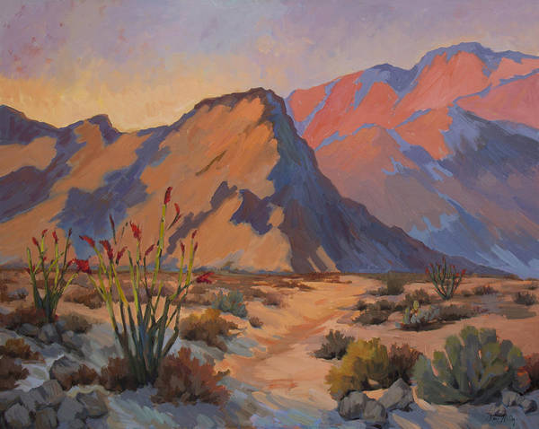 Desert Scene Painting - Ocotillo At La Quinta Cove by Diane McClary