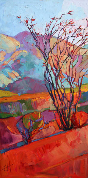 Wall Art - Painting - Ocotillo Triptych - Left Panel by Erin Hanson