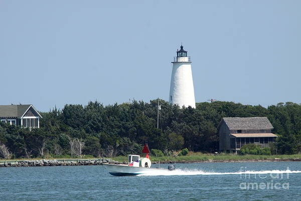 Ocracoke Lighthouse Photograph - Ocracoke Light by Christiane Schulze Art And Photography