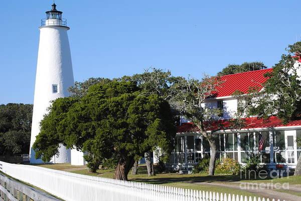 Ocracoke Lighthouse Photograph - Ocracoke Light by Gordon  Allen