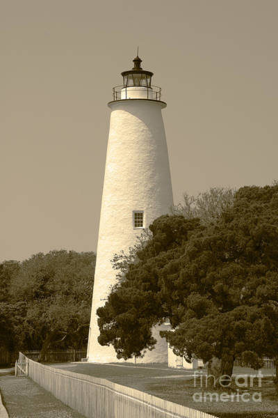 Photograph - Ocracoke Lighthouse In Sepia by Jill Lang
