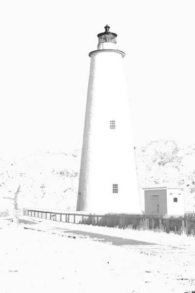 Photograph - Ocracoke Lighthouse by Jim Dollar