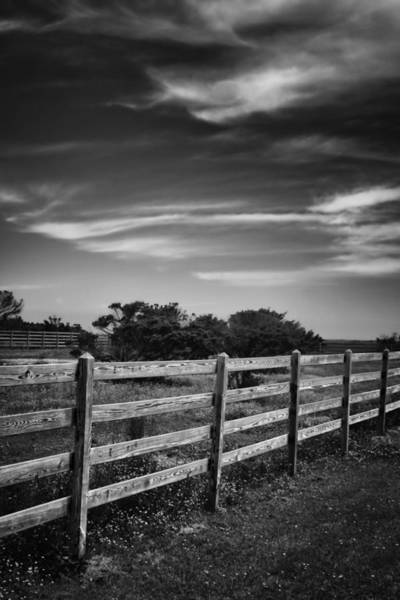 Photograph - Ocracoke Pony Fence by Ben Shields