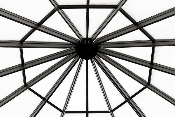Trapeze Photograph - Octagon Ceiling Glass Panels by Brett Engle