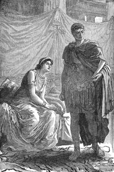 Wall Art - Painting - Octavianus And Cleopatra by Granger