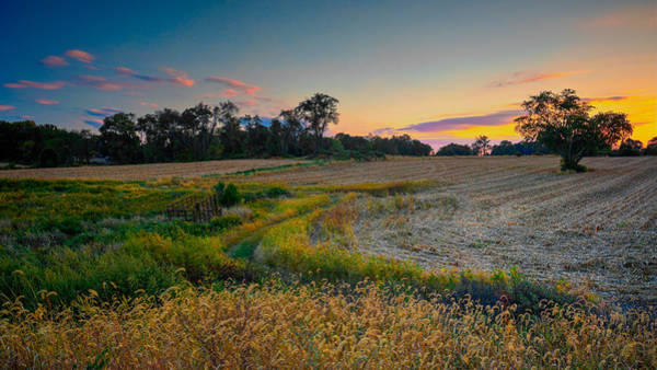 Photograph - October Evening On The Farm by William Jobes
