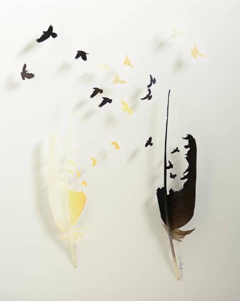 Wall Art - Mixed Media - October Flight by Chris Maynard