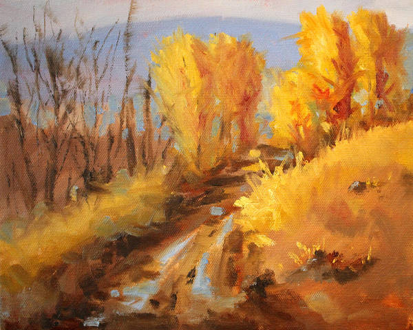 Wall Art - Painting - October Hill by Nancy Merkle