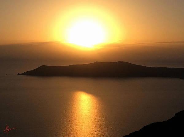 Photograph - October Santorini Sun Set by Colette V Hera  Guggenheim