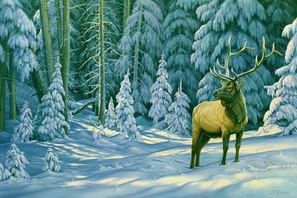 Wall Art - Painting - October Snow by Paul Krapf