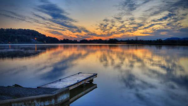 October Sunrise At Lake White Art Print