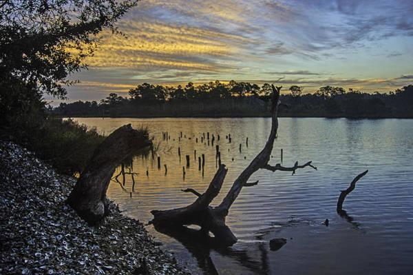 Digital Art - October Sunrise On The Bon Secour River by Michael Thomas