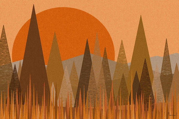October Sunset Art Print