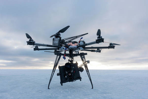 High Definition Photograph - Octocopter Movie Camera Drone by Louise Murray