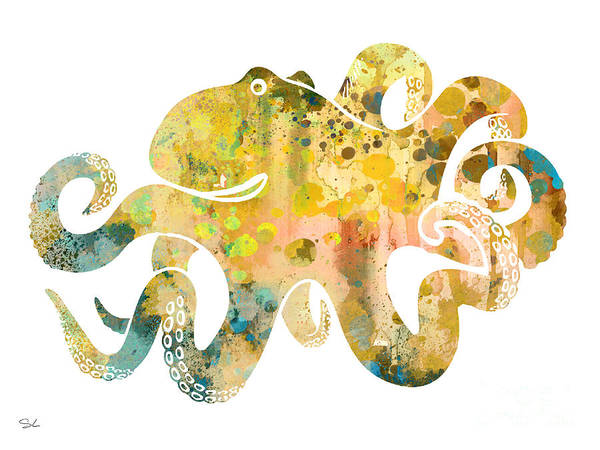 Octopus Painting - Octopus 4 by Watercolor Girl