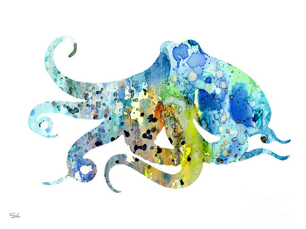 Octopus Painting - Octopus 7 by Watercolor Girl