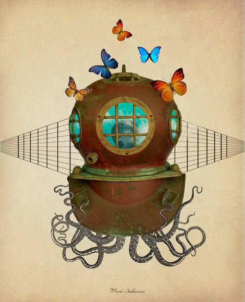 Domestic Digital Art - Octopus by Mark Ashkenazi