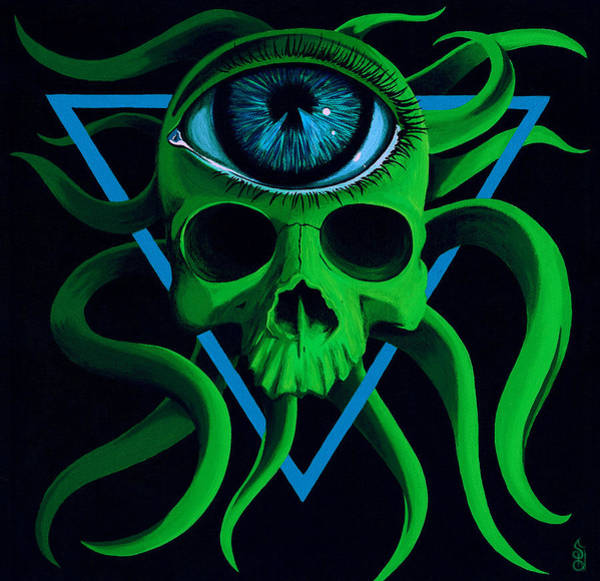 Blacklight Painting - Ocupus by Steve Hartwell