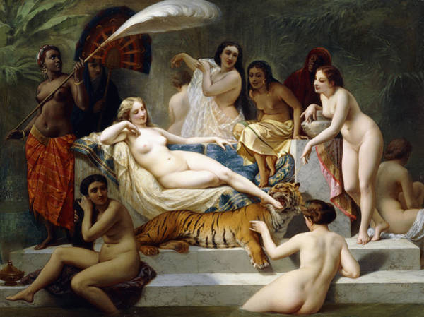 Unclothed Wall Art - Painting - Odalisque by Henri Pierre Picou