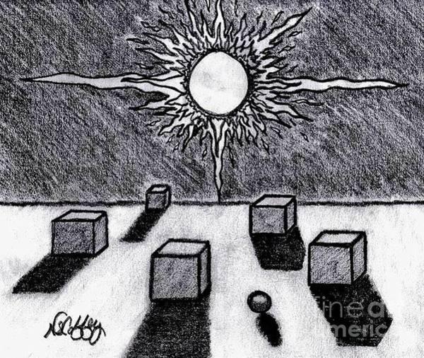 Drawing - Odd Ball by Neil Stuart Coffey