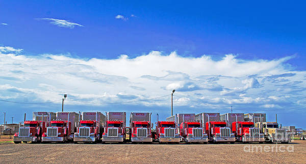 Freightliner Wall Art - Photograph - Odd Man Out by Derry Murphy