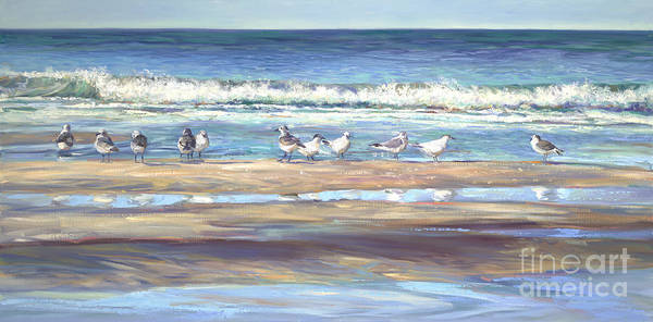 Seagull Painting - Morning Revellie by Laurie Snow Hein