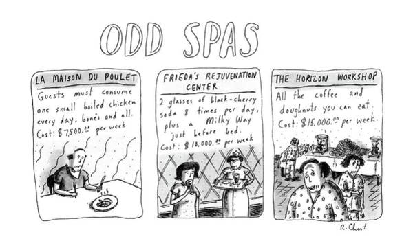 8 Drawing - Odd Spas by Roz Chast