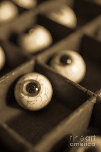 Halloween Photograph - Oddities Fake Eyeballs by Edward Fielding