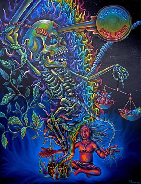 Hallucination Painting - Ode To Aya by Jim Figora