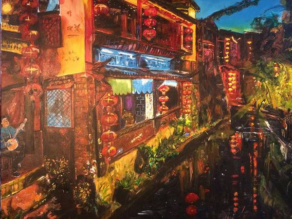China Town Painting - Ode To Lovers by Belinda Low