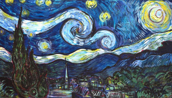 Painting - Ode To Vangogh 2013 by Laurie Maves ART