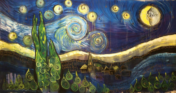 Painting - Ode To Vangogh's Starry Night by Laurie Maves ART