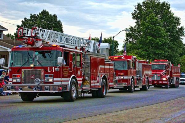 Photograph - Odessa Missouri Fire Department by Tim McCullough