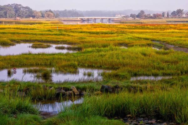 Photograph - Odiorne Salt Marsh Misty Morning Light by Jeff Sinon