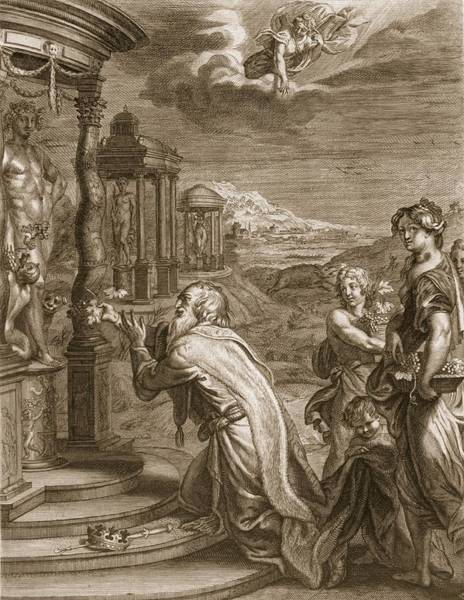 Goddess Drawing - Oeneus, King Of Calydon, Having by Bernard Picart