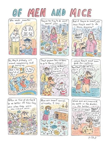 Nothing Drawing - Of Men And Mice by Roz Chast