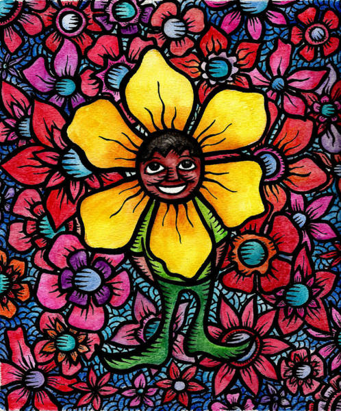 Painting - Of Petals And Hope Sonny Sunflower Triumphs Over Bullying by Marconi Calindas