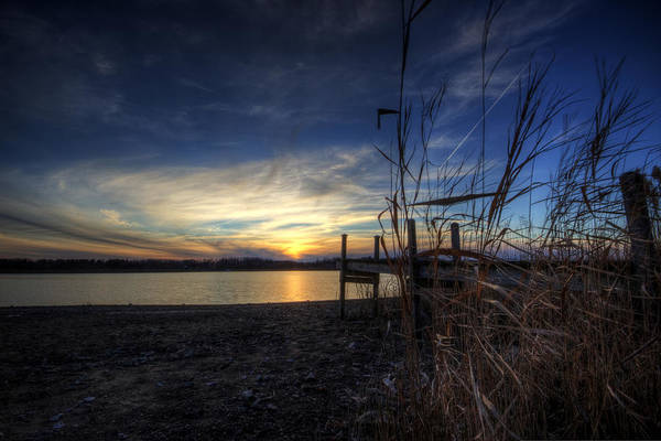 Photograph - Off Season Sunset At The Lake by David Dufresne