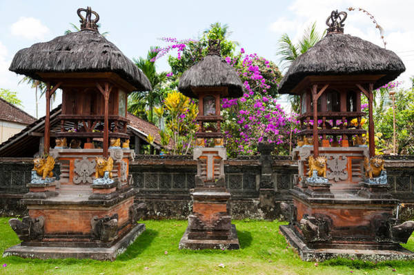 Indonesian Culture Photograph - Offering Altars, Rejasa, Penebel, Bali by Panoramic Images
