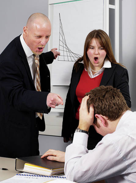 Office Manager Wall Art - Photograph - Office Bullying by Jim Varney/science Photo Library