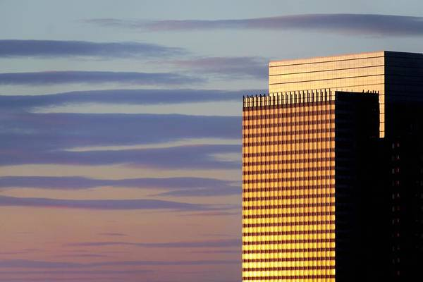 Wall Art - Photograph - Office Tower Sunset by Jim Hughes